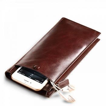 AIM 男士长钱包拉链钱夹手包皮夹