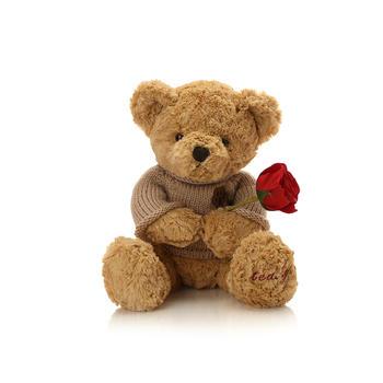 经典脚印毛衣熊毛绒玩具可爱抱抱熊公仔生日礼物45cm