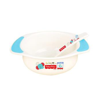 费雪防滑婴儿双耳碗配勺蓝色