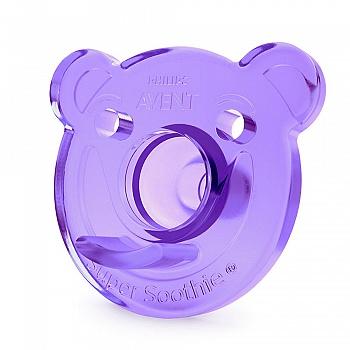 英国•飞利浦新安怡全硅胶柔软安抚奶嘴(3个月+)粉/紫对装