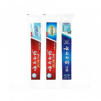 中国•云南白药 益优清新超值3支装 益生菌牙膏 (清新晨露150g+激爽薄荷145g+冰柠薄荷145g)