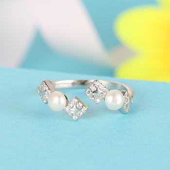 925银淡水珍珠戒指 幸福魔方