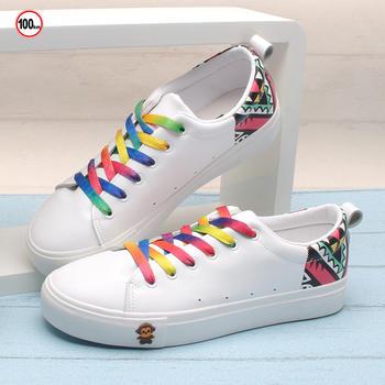 100KM猩猩猴 女鞋小白鞋系带休闲鞋