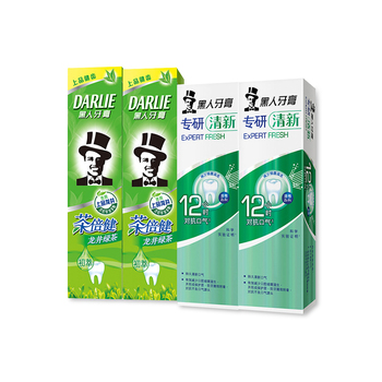 中国•黑人龙井绿茶90G*2+专研清新80g*2