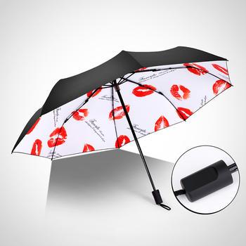 德国iRain清新防紫外线防晒黑胶晴雨伞