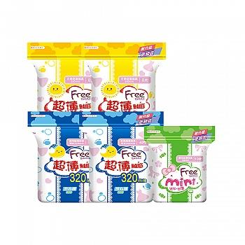 中国•Free·飞 日夜组合4包送迷你巾1包 共34片