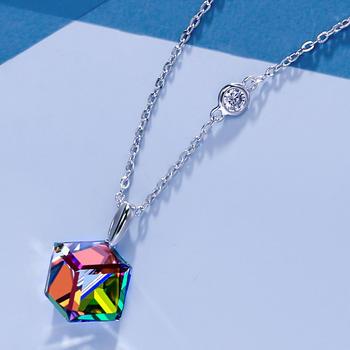 Mbox项链简约气质爱如水晶锁骨链