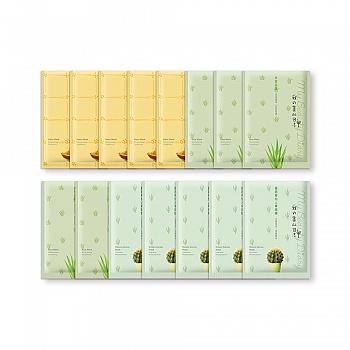 中国•我的美丽日志纳豆芦荟仙人掌补水舒缓套组15片装
