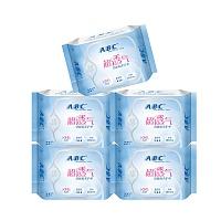 中国•ABC劲吸棉柔护垫组合22片*5包 共110片