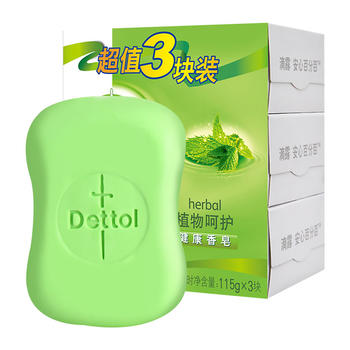滴露香皂植物呵护115g*3