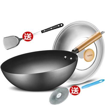 苏泊尔臻铁真不锈轻质爆炒铁锅