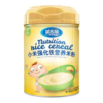 英吉利小米強化鐵營養米粉450g/罐