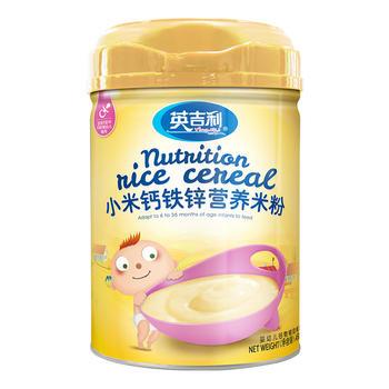 英吉利小米钙铁锌营养米粉450g/罐