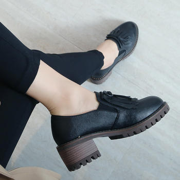 【秋上新】ZHR-粗跟流苏乐福鞋