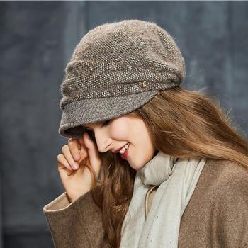 卡蒙蓓蕾帽贝雷堆堆帽子女针织帽