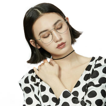 音米眼镜复古女文艺金属眼镜框