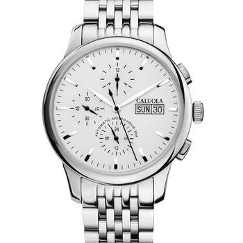 卡罗莱六针钢全自动机械表男手表