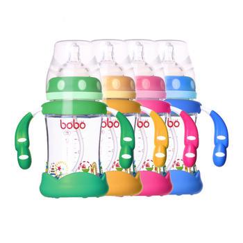 BOBO乐儿宝 成长防摔优晶奶瓶160ml