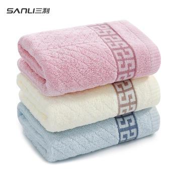 三利 吉祥缎档纯棉毛巾 量贩3条装洗脸面巾34×72cm