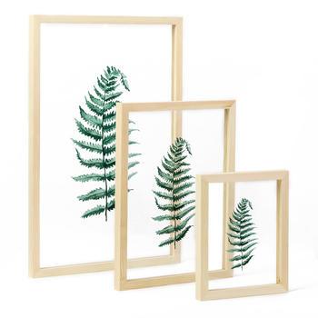 起贝北欧小清新绿叶透明装饰画