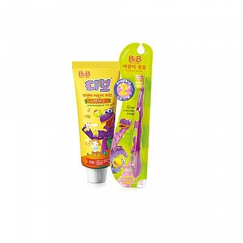 保宁口腔类套装(幼儿牙膏 橙子香型*1+儿童牙刷 第二阶段*1)