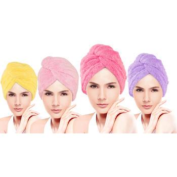 欧朵思秋冬款加厚三角干发帽 吸水速干发巾 颜色随机