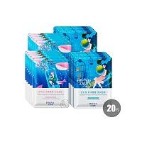 珀莱雅(PROYA)水嫩光采膜盒(泡叶藻补水保湿柔润面膜25mlx10片+裙带藻水嫩亮肤粉润面膜25mlx10)