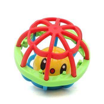 新生儿婴幼儿软胶学爬健身球摇铃