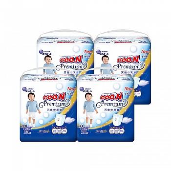 GOO.N®大王 短裤式纸尿裤 天使系列XXL20片*4包