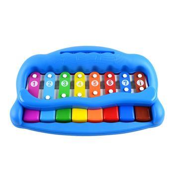 八音节缤纷敲琴儿童玩具颜色随机