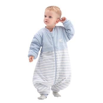 欧孕婴儿分腿睡袋秋冬防踢被纯棉