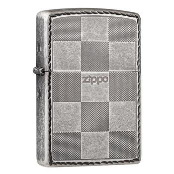 之宝(zippo)古银格子芝宝图腾
