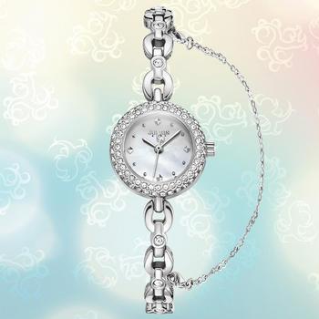 聚利时优雅贝母小表盘手链手表