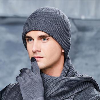 卡蒙全羊毛帽子男士冬季针织帽