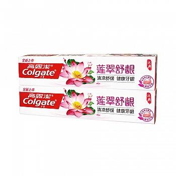 高露洁(Colgate)莲翠舒龈牙膏120g*2(清凉舒缓,健康牙龈)