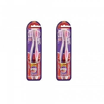 高露洁(Colgate)360卓效护龈牙刷两支特惠装*2(多款颜色,随机发货)