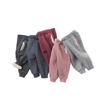 davebella冬季新款儿童休闲加绒裤子