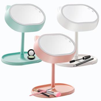 Ymer化妆镜LED带灯台式公主化妆镜