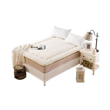 明瑟mingse羊羔绒床垫白色