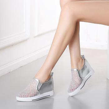 艾米奇牛皮水钻装饰网纱?#21767;?#21333;鞋