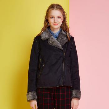 2015冬装新品 皮?#34183;?#26262;短外套