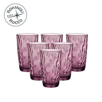 Bormioli Rocco 钻石玻璃水杯C款 6只装
