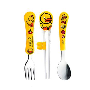 B.Duck儿童餐具 叉 勺 学习筷