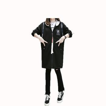 蚕坊俪 孕妇时尚飘带黑色外套