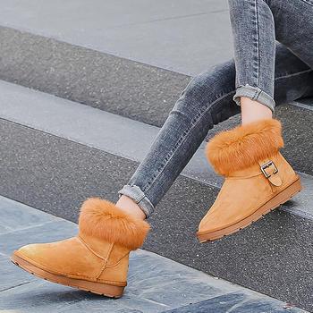 100KM猩猩猴 真皮雪地靴女短靴加绒