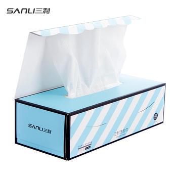 三利一次性洗脸巾美容巾80抽/盒 防尘包装 干湿两用