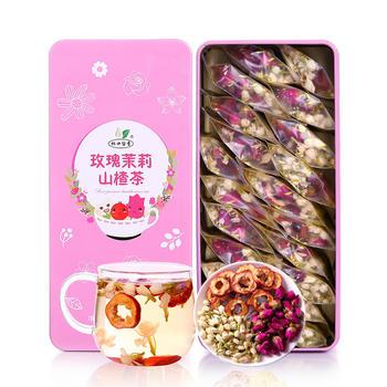 杯口留香玫瑰茉莉山楂茶144g