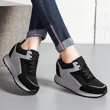 ZHR-牛皮内增高休闲运动鞋旅游鞋