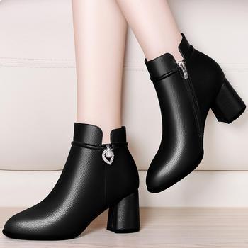 短靴子单靴韩版高跟鞋百搭裸靴子