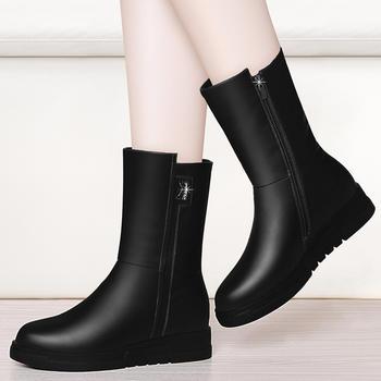平底加绒保暖女靴子时尚短筒靴